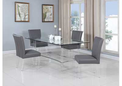 Image for Grey 5 Piece Dining Room Set