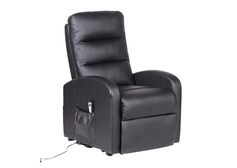 Image for Black Adjustable Lift Recliner w/Electric Motor & Remote