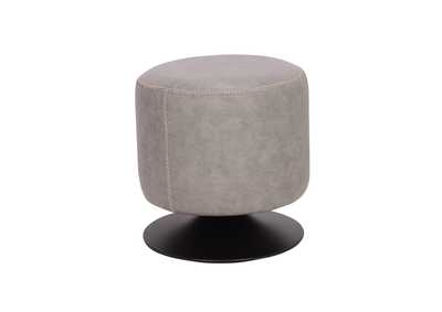 Image for Ash Round Vintage Upholstered Ottoman
