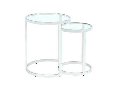 Image for Stainless Steel 2-In-1 Nesting Lamp Table Set