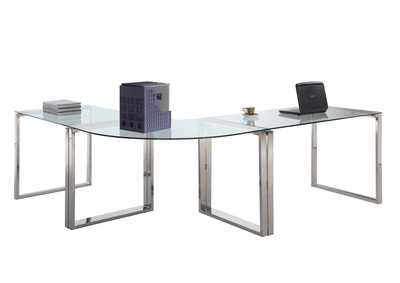 Steel/Glass Desk Set