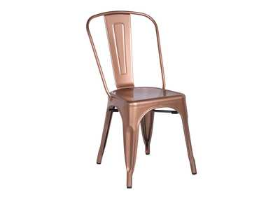 Antique Copper Vintage Galvanized Steel Side Chair Set Of 4 Furniture World Lighthouse Point