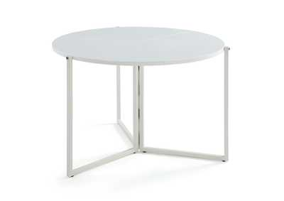 Image for Gloss White Round Foldaway Dining Table