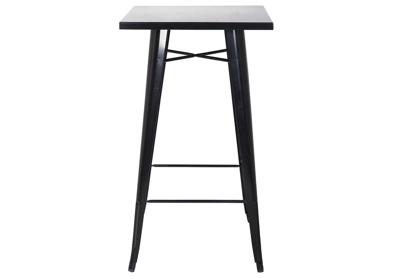 Image for Black Galvanized Steel Bar Table