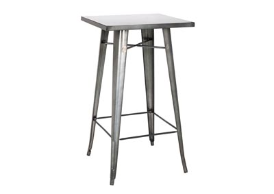 Image for Gunmetal Galvanized Steel Square Top Pub Table