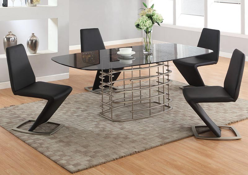 Image for Abby Dining Table w/4 Black Chairs