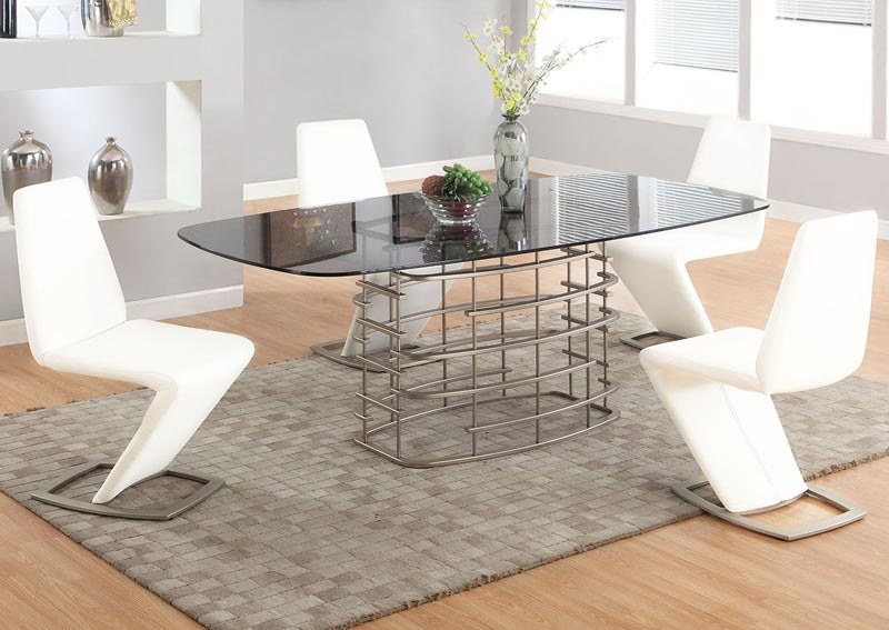 Image for Abby Dining Table w/4 White Chairs
