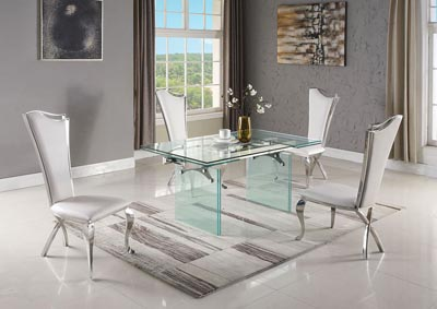 Annie-Nadia Dining Table w/4 Side Chairs