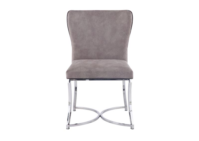 Autumn Gray Curved Back Chair