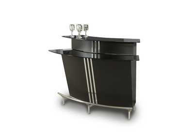 Image for Broadway Black Glass Bar
