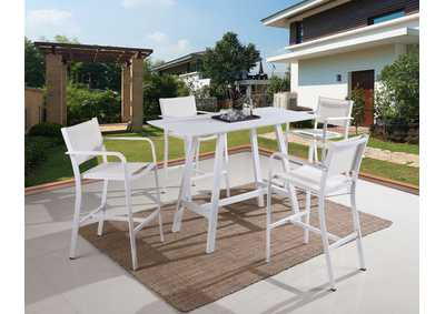 Image for Carmel White Outdoor Dining Set (5Pc)