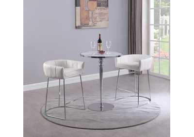 Image for Denise White Pub Set with Counter Table & 2 Stools