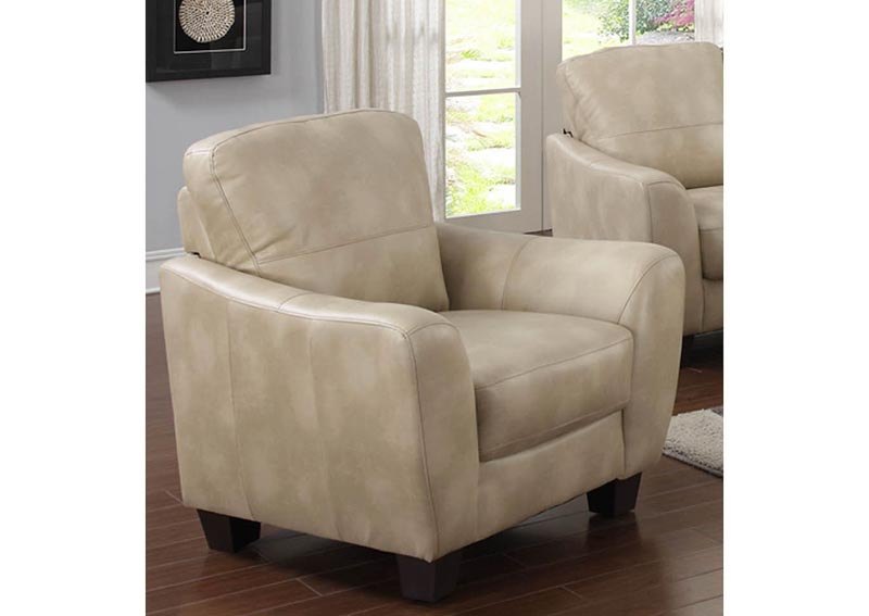 Fremont Taupe Club Bonded Leather Chair