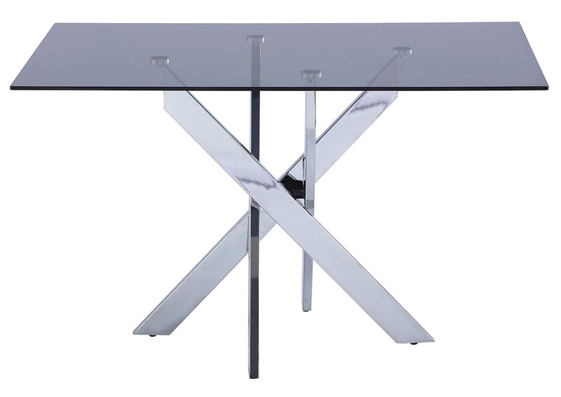 Genevieve Chrome Dining Table