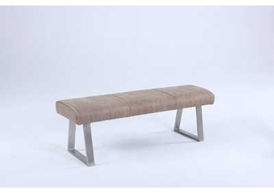 Image for Kalinda Grey Bench with Highlight Stitching