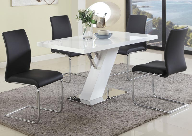 Linden Dining Table w/4 Jane Side Chairs