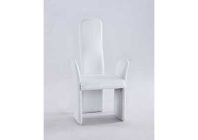 Lucy White Contour Back Arm Chair (Set of 2)