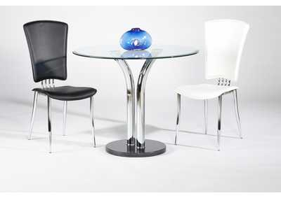 Image for Clear Round Glass Top Dining Table
