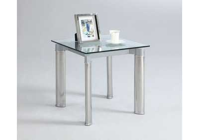 Tara Tempered Glass Top Lamp Table