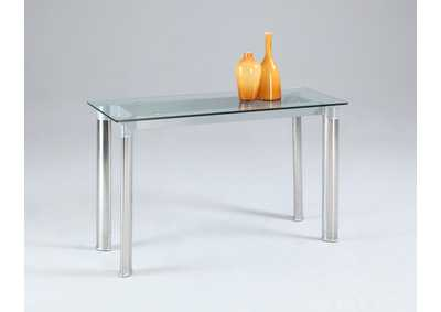 Tara Tempered Glass Top Sofa Table