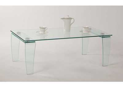 Vera Tempered Glass Cocktail Table