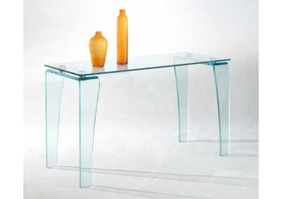 Vera Tempered Glass Sofa Table
