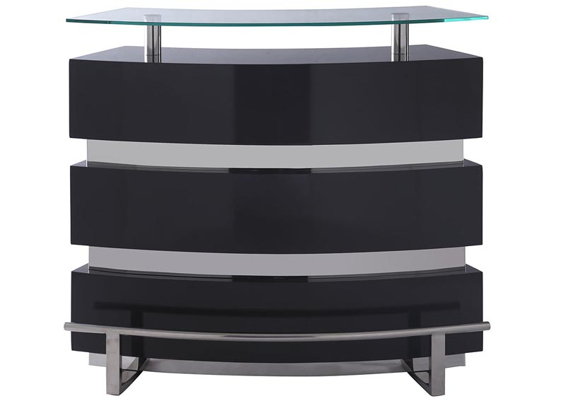 Image for Xenia Gray Tempered Glass Top Bar