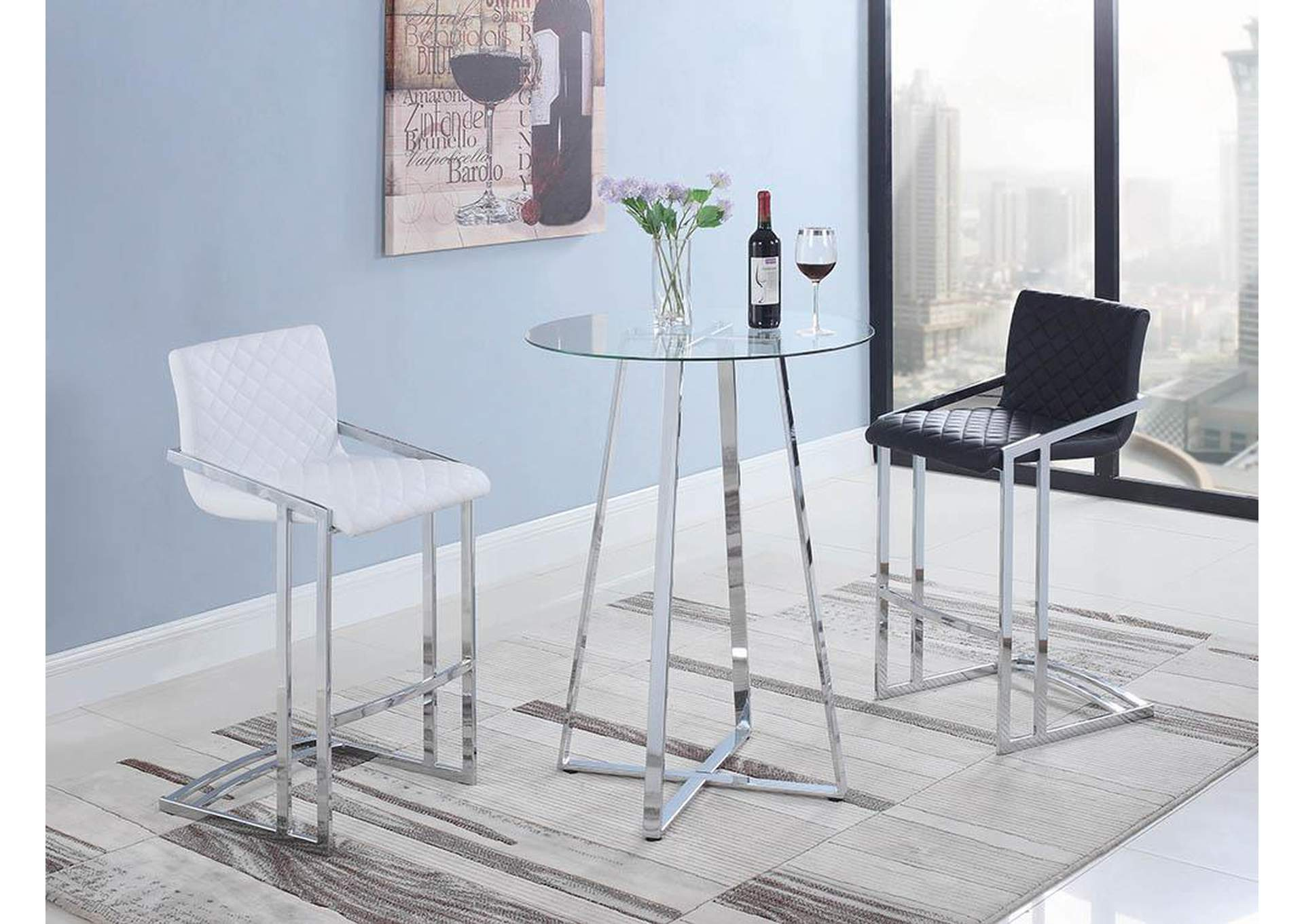 Chrome Bar Table,Coaster Furniture