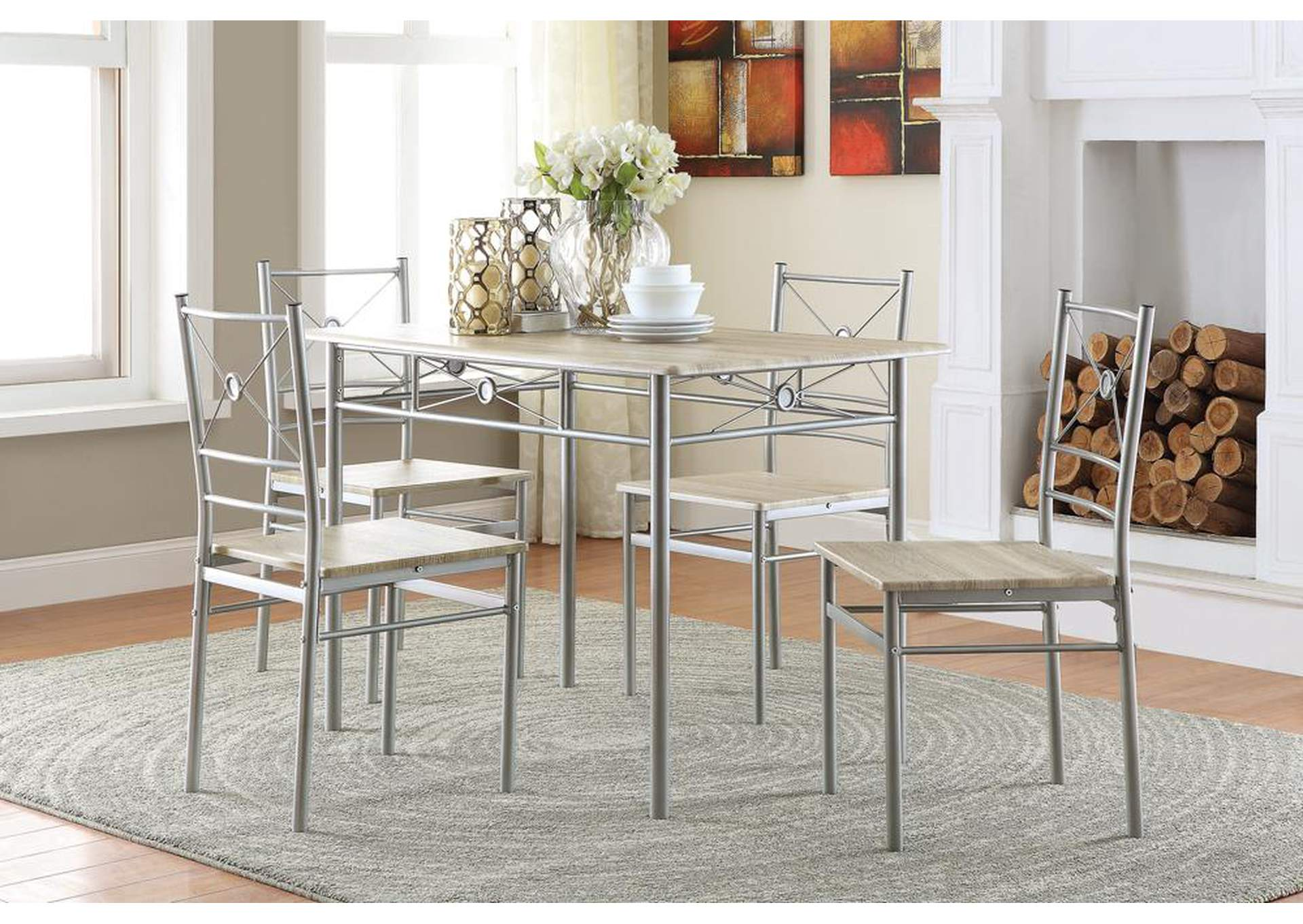 Taupe 5 Piece Set,Coaster Furniture
