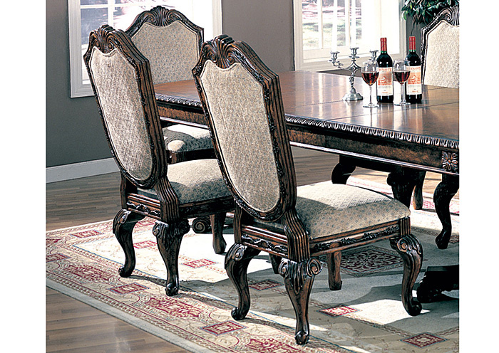 Saint Charles Green & Brown Side Chair (Set of 2),Coaster Furniture