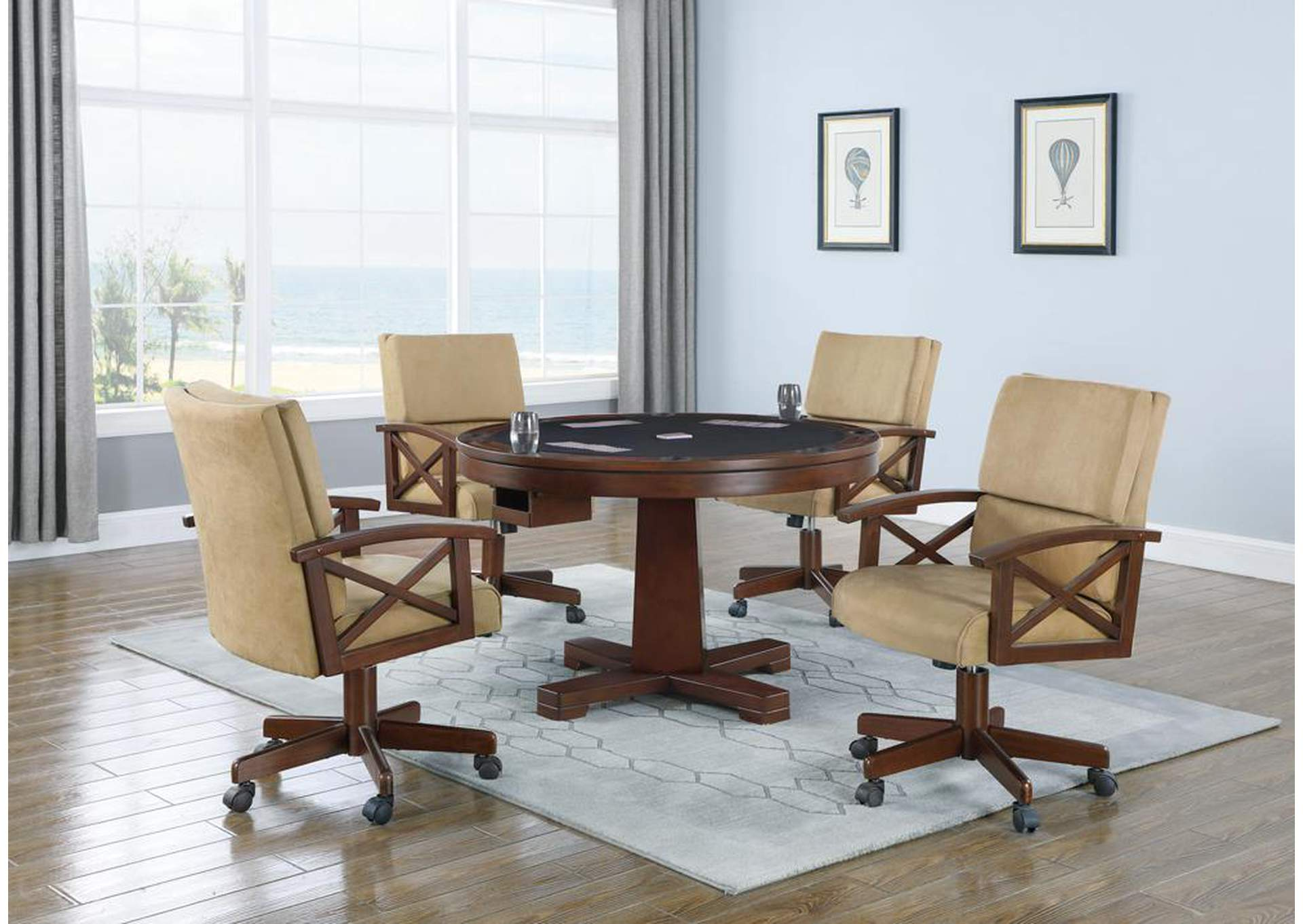 Marietta Tobacco Finished Game Table,Coaster Furniture