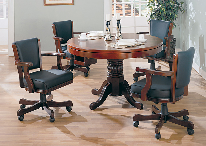 Game Table w/ 4 Game Chairs,ABF Coaster Furniture