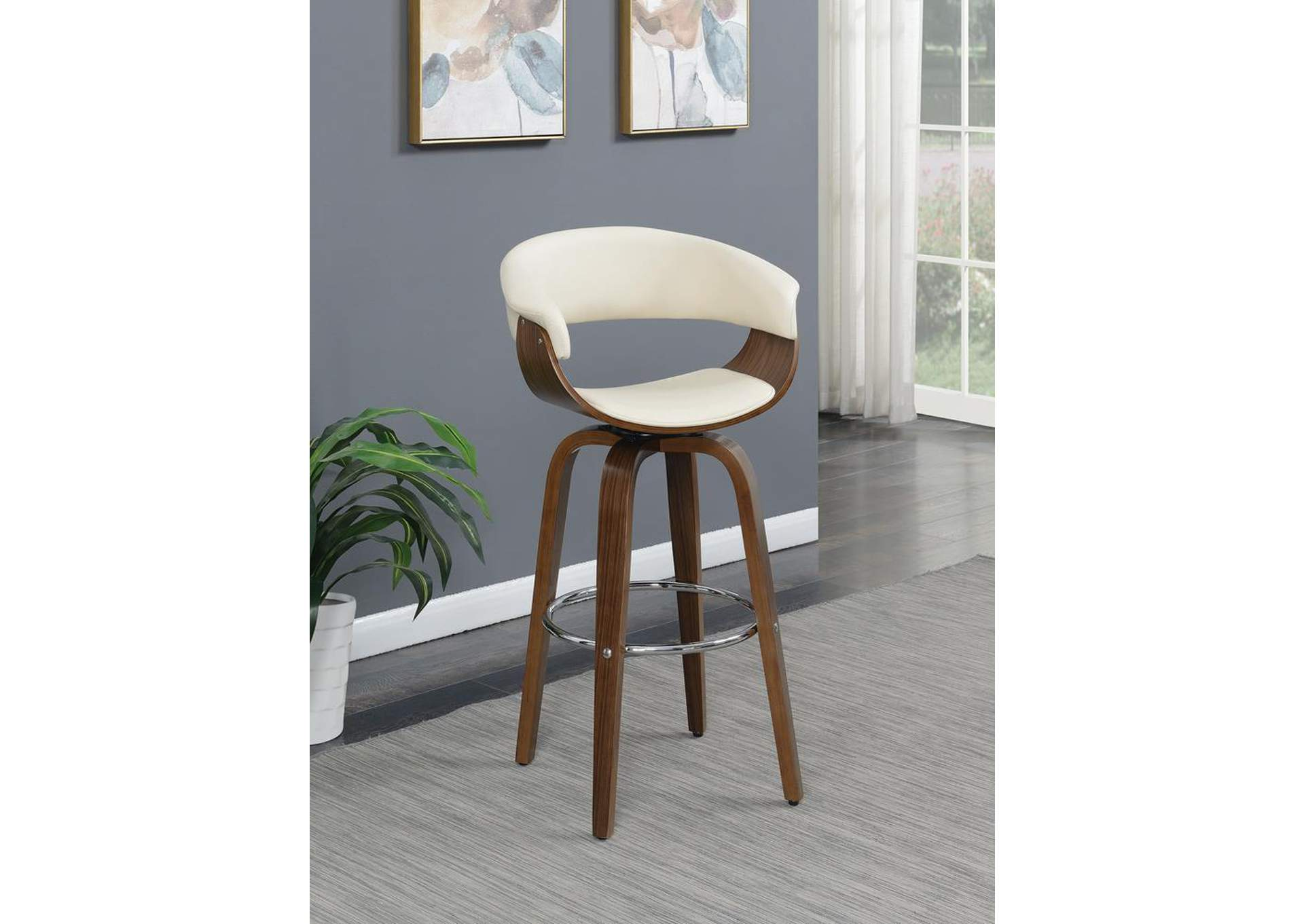 Walnut Bar Stool,Coaster Furniture