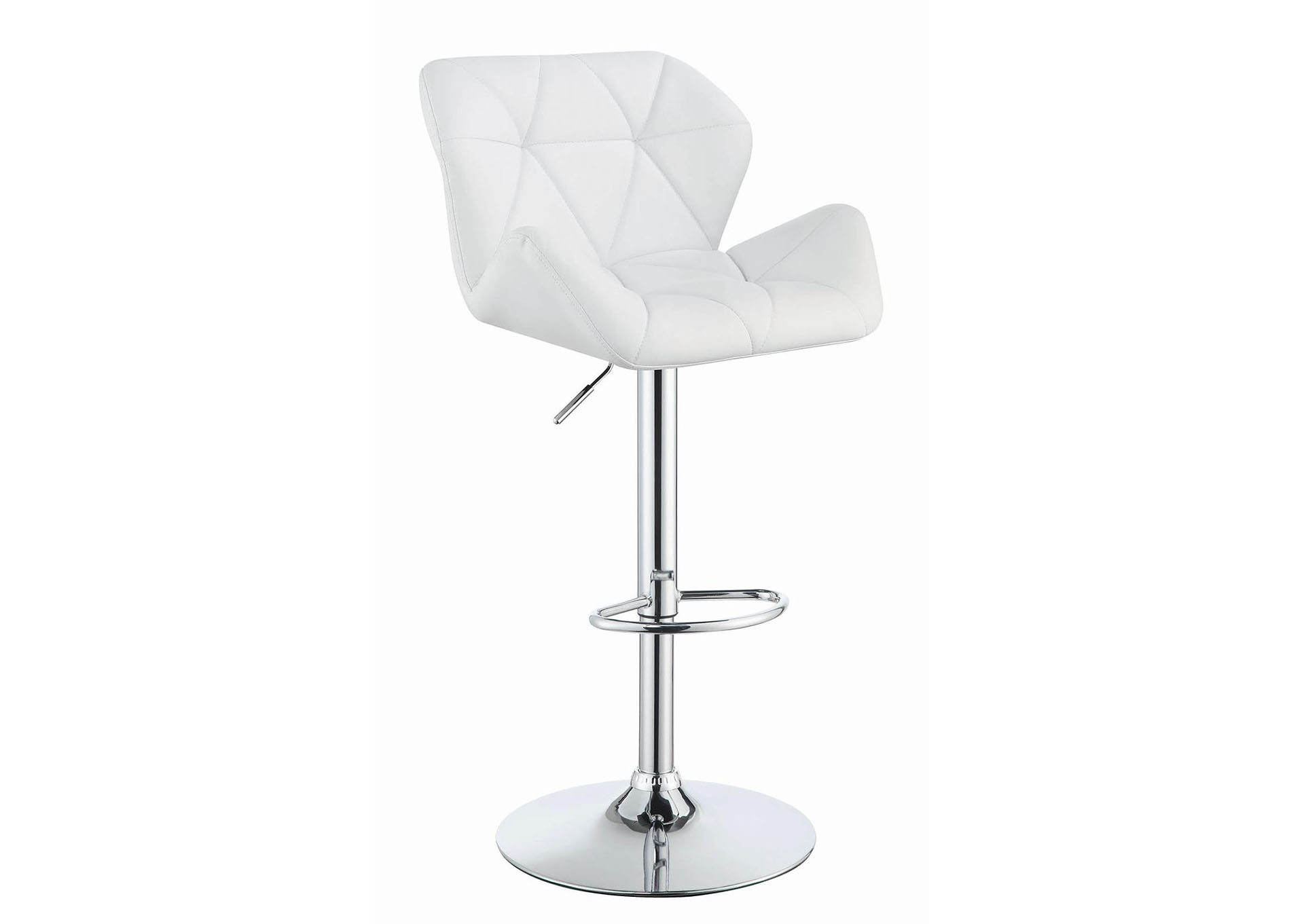 White Adjustable Bar Stool (Set of 2),Coaster Furniture