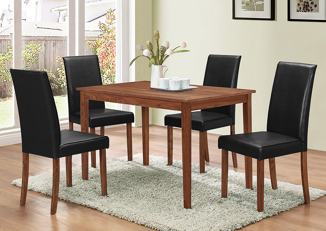 Natural Walnut 5 Piece Dining Set,ABF Coaster Furniture