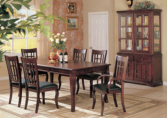 Newhouse Cherry Dining Table w/ 4 Side Chairs,ABF Coaster Furniture