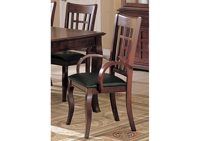 Newhouse Black & Cherry Arm Chair (Set of 2),ABF Coaster Furniture