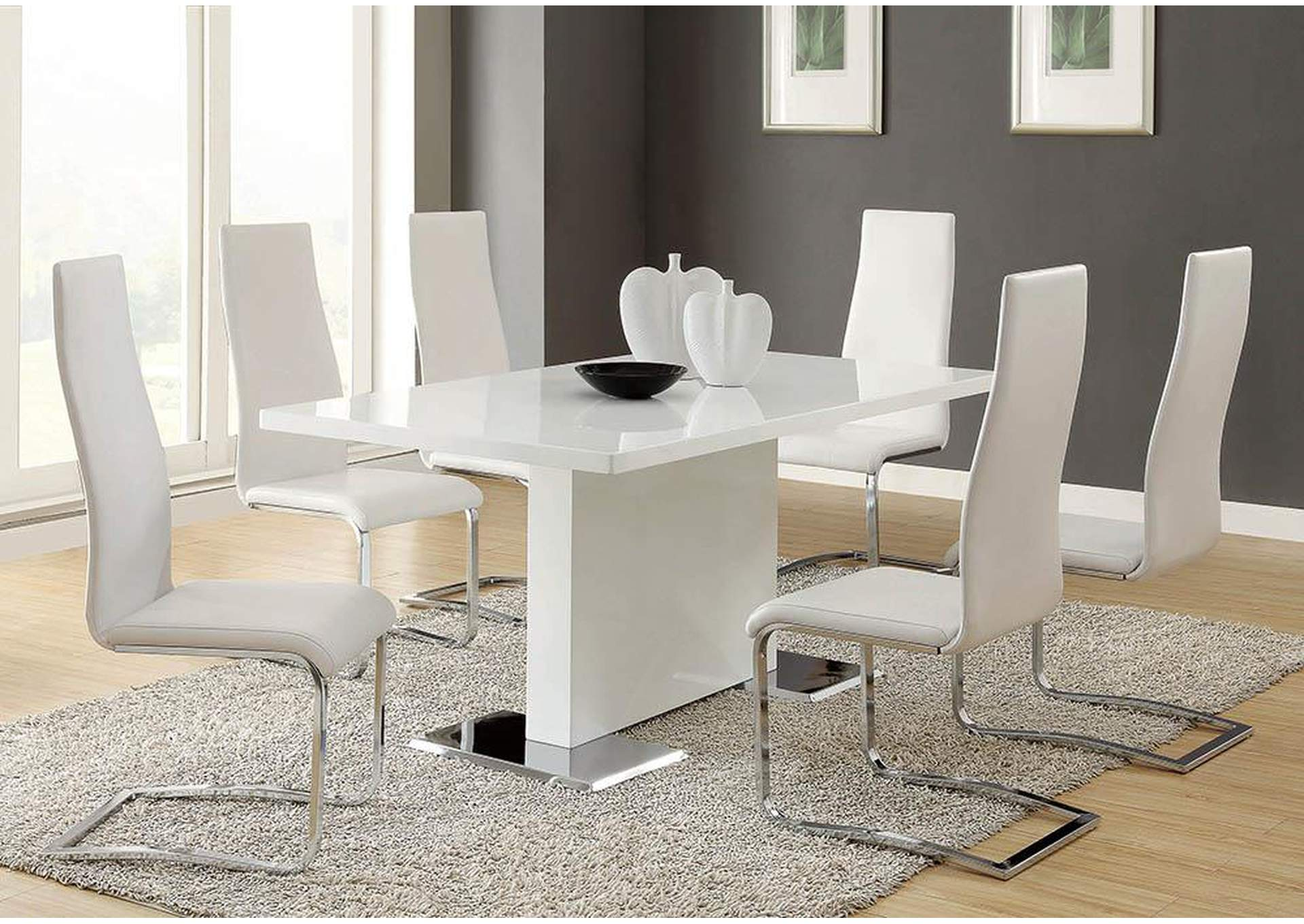 White Dining Chair (Set of 4),Coaster Furniture