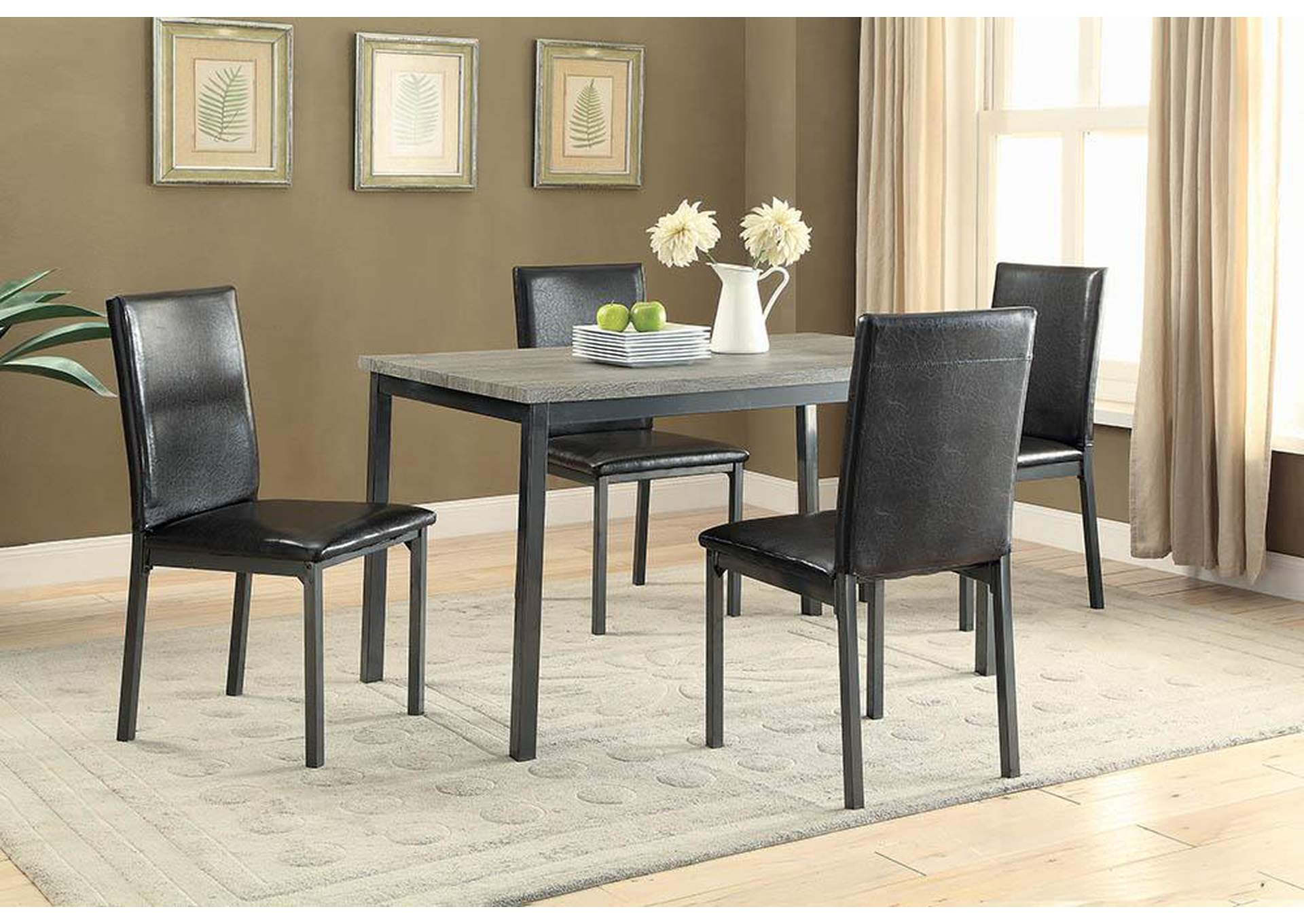 Black Side Chair (Set of 2),Coaster Furniture