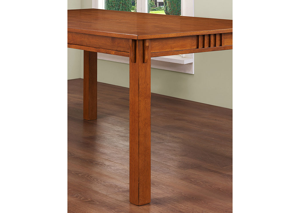Light Oak Rectangular Dining Table,ABF Coaster Furniture