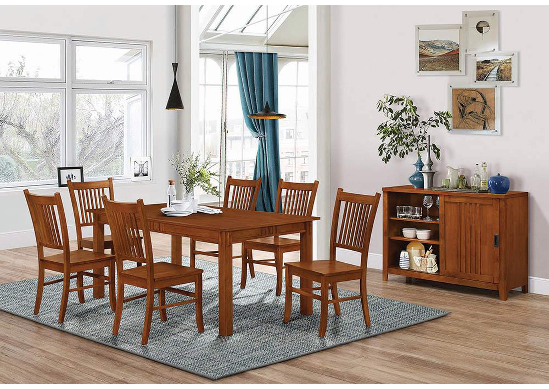 Light Oak Side Chair (Set of 2),Coaster Furniture
