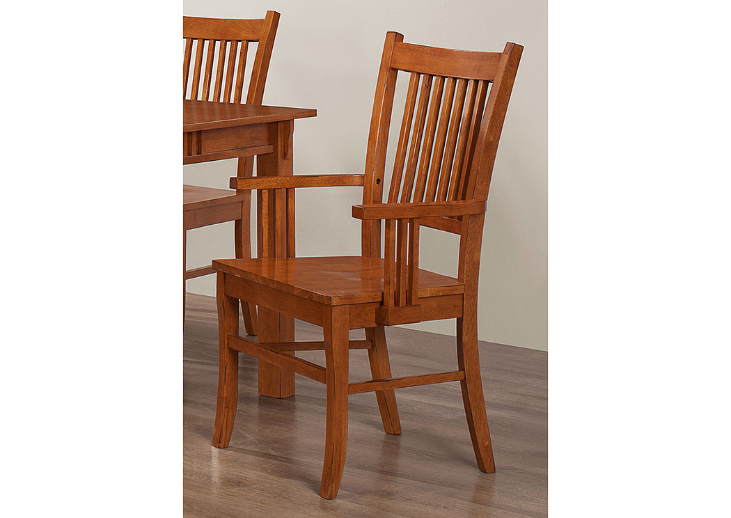 oak dining chairs with arms brothers furniture light oak arm chair set of 2 7127