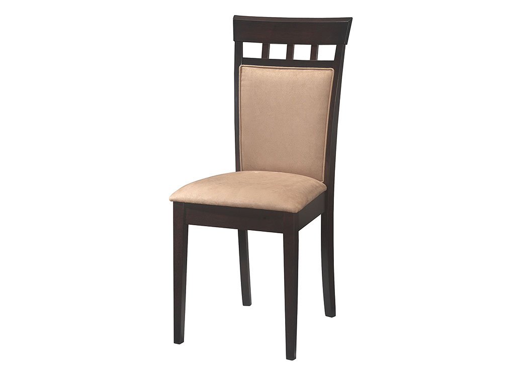Cappuccino Cushion Back Side Chair (Set of 2),Coaster Furniture