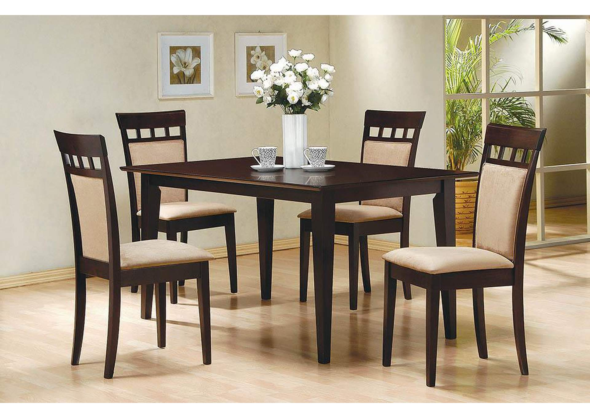 Gabriel Beige and Cappuccino Dining Chair (Set of 2),Coaster Furniture