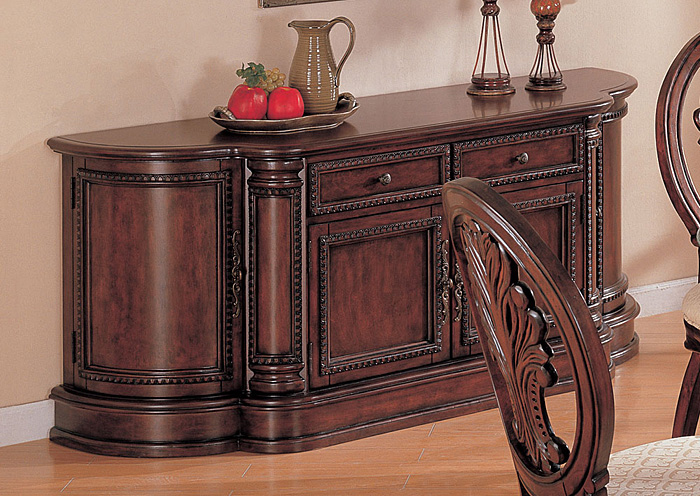 Tabitha Dark Cherry China Cabinet,Coaster Furniture