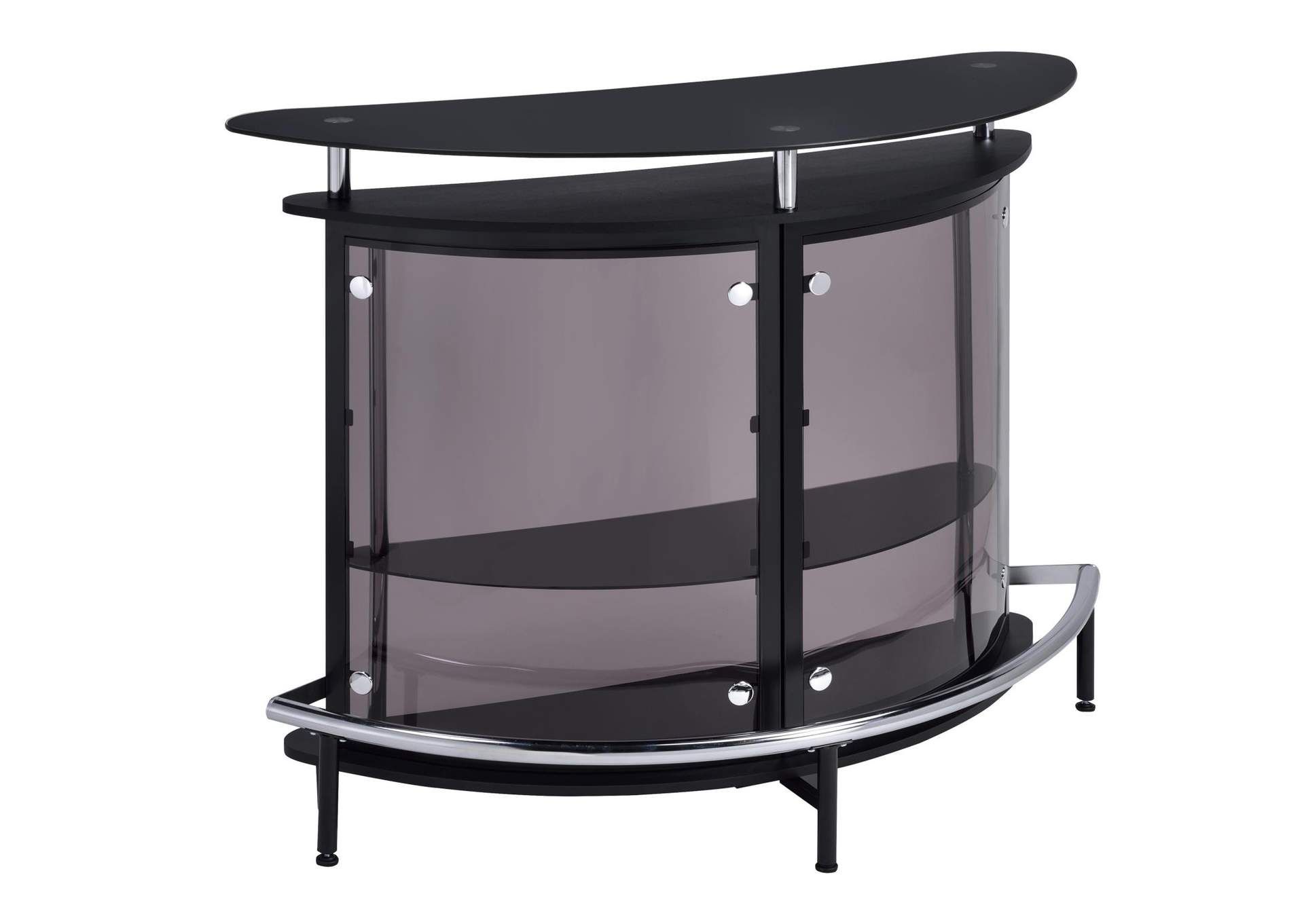 Black Bar Unit w/Tempered Glass,Coaster Furniture