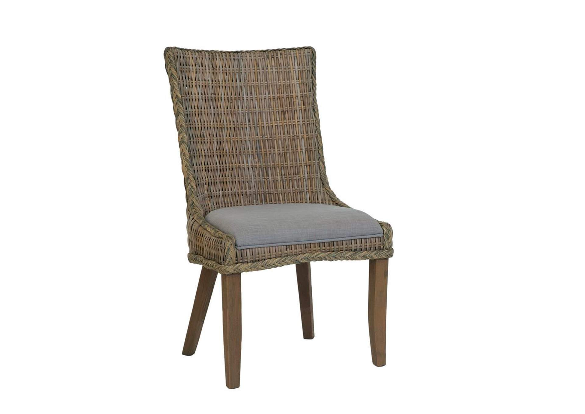 Coffee Matisse Country Woven Side Dining Chair [Set of 2],Coaster Furniture
