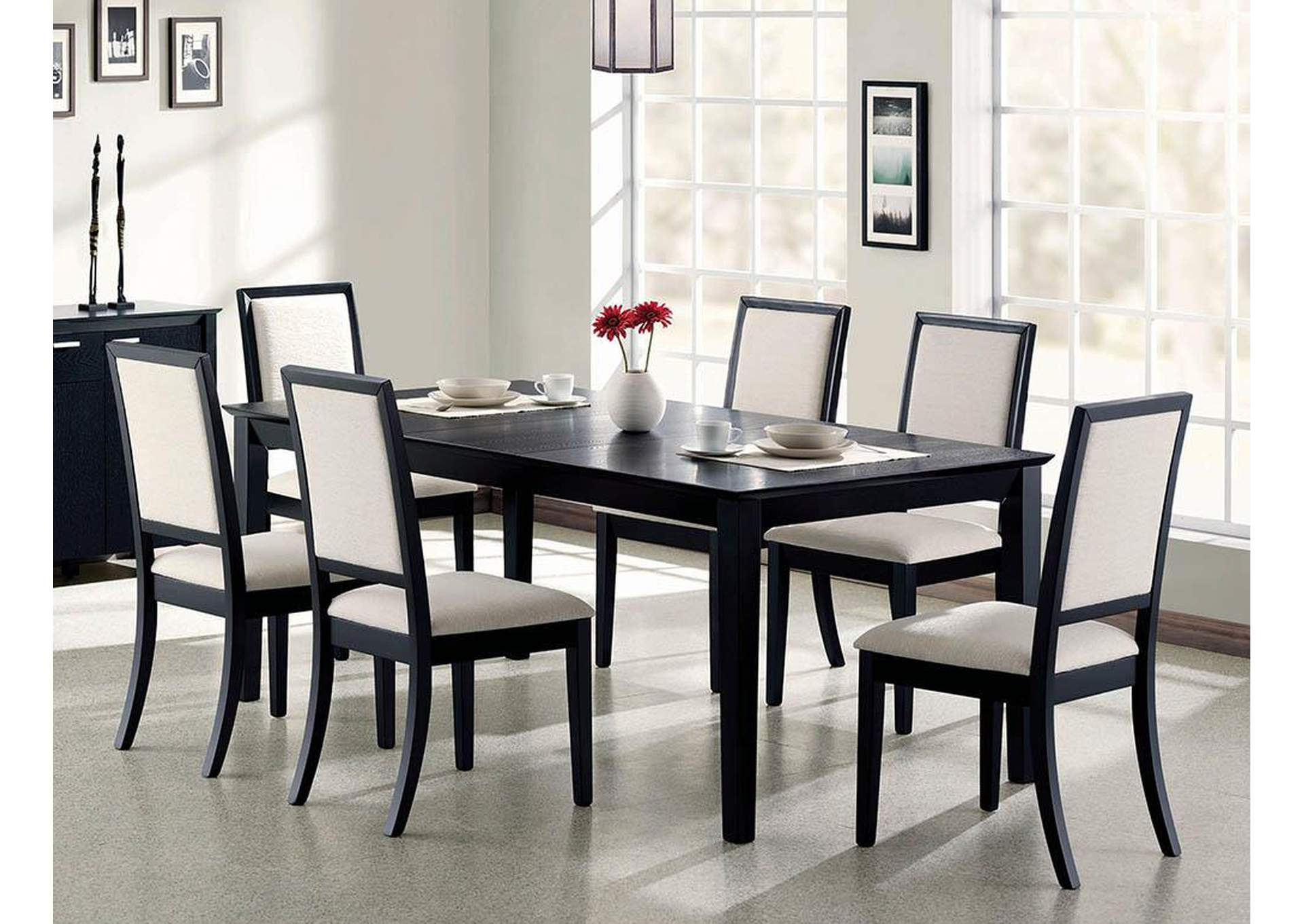 Lexton Black Dining Table,Coaster Furniture
