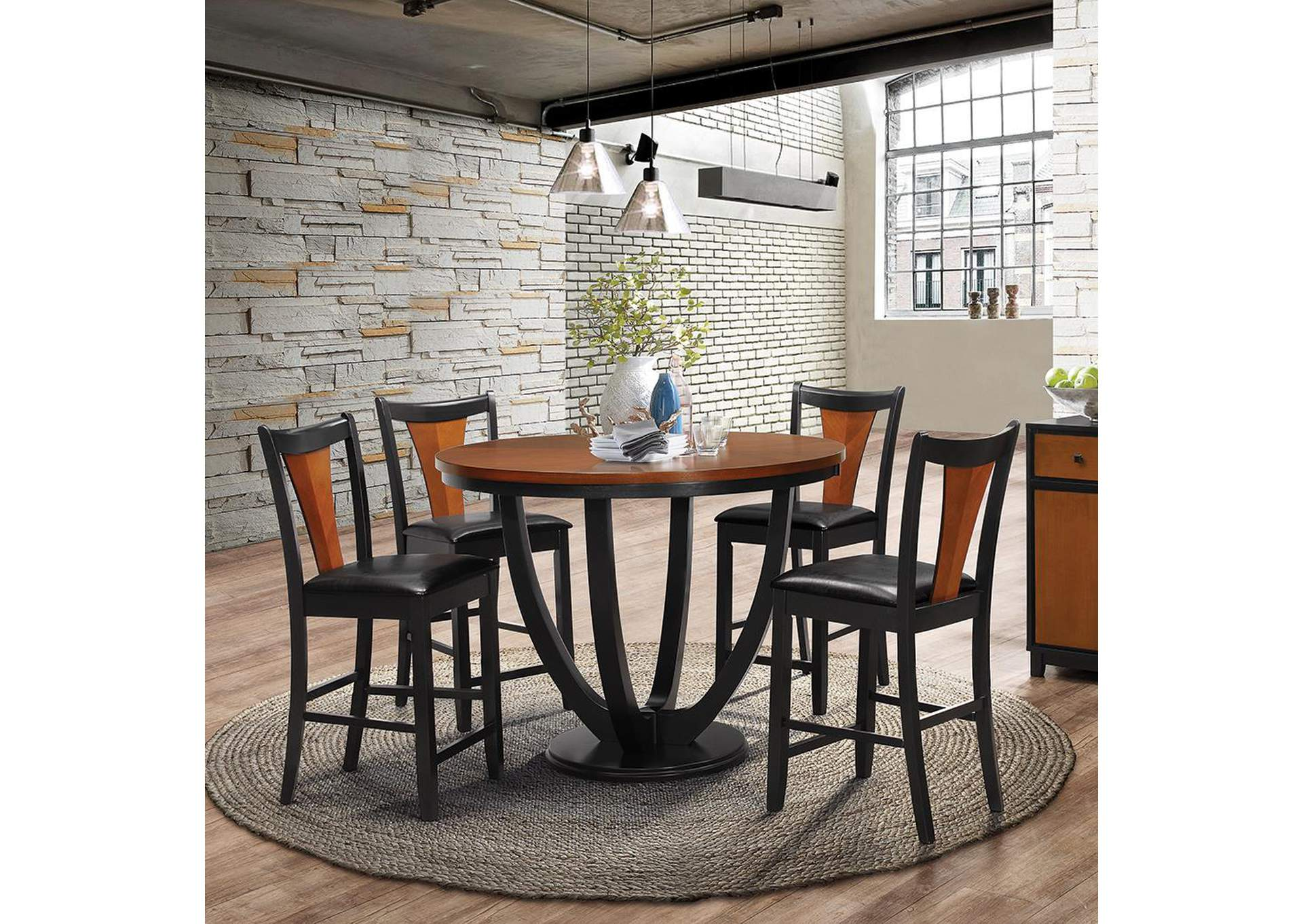 Exceptionnel Boyer Black U0026 Black / Cherry Barstool (Set Of 2),Coaster Furniture
