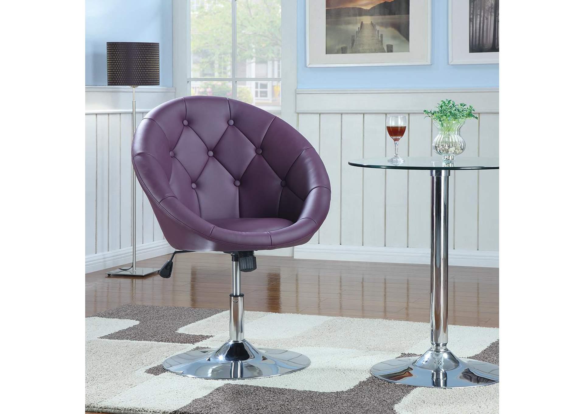 Merveilleux Pink/ Purple U0026 Chrome Swivel Chair,Coaster Furniture